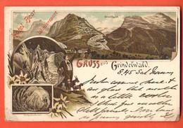 ZNC-09 SELTEN Gruss Aus Grindelwald. Litho Gelaufen Nach England, Marke Fehlt - BE Berne