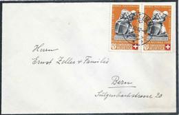 Trauerbrief  Zweisimmen - Bern  (Pro Patria Frankatur)         1940 - Storia Postale