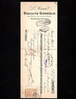 MAISONS ALFORT - Lettre De Change 1934 - BISCUITS GONDOLO - L. MIRAND - Rue De Charentonneau - Letras De Cambio