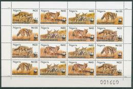 Nigeria 2003 WWF Naturschutz Streifenschakal 762/65 ZD-Bogen Postfrisch (C24690) - Nigeria (1961-...)