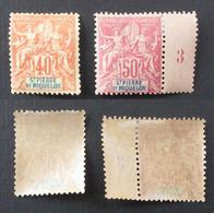 St Pierre Et Miquelon 1892  Yver 68 69 Neufs* - Neufs