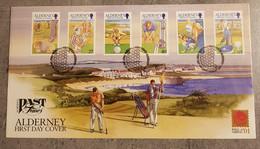 ALDERNEY FDC 2001 GOLF - Alderney