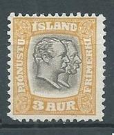 Islande Timbres De Service YT N°24 Rois Frédéric VIII Et Christian IX Neuf Sans Gomme NSG - Dienstpost