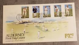 ALDERNEY FDC CRICKET . - Alderney