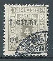 Islande Timbres De Service YT N°11 Surchargé I GILDI Oblitéré ° - Dienstpost