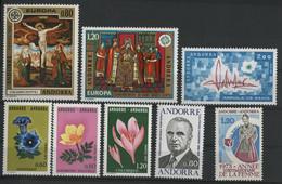 ANDORRE FRANCAIS 1975 ANNEE COMPLETE COTE 26.4 € N° 243 à 250 NEUFS ** (MNH). Vendue à 10% De La Cote. TB - Neufs