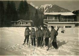 CHAMONIX LES PECLES 1950  PHOTO ORIGINALE 8.50  X 6 CM - Places