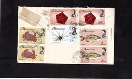 LSC Pour Allemagne - Série Elisabeth II & Flore Marine - YT 329 - 330 - 333 - 334 - Mauritius (1968-...)