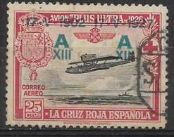 ESPAÑA - Año 1927 **XXV Coronación De Alfonso XIII** Correo Aéreo - Edifil 367 - Oblitérés