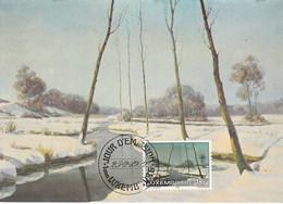 Carte Maximum  Peinture Painting 1982 Luxembourg Moussel - Maximum Cards