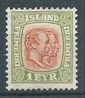 Islande YT N°47 Frédéric VIII Et Christian IX Neuf Sans Gomme NSG - Ungebraucht