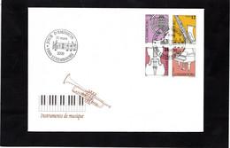 LSC 2000  - LUXEMBOURG - INSTRUMENTS De MUSIQUE - YT  1449 à 1452 - Music