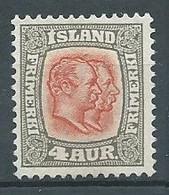 Islande YT N°49 Frédéric VIII Et Christian IX Neuf Sans Gomme NSG - Ungebraucht
