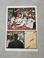 RARE Petite Affiche Carton Invitation Equipo Cronica Galerie Karl Flinker 1977 Tres Bon état - Posters