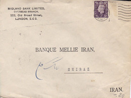 GB Letter - Midland Bank London To Iran - 1941 (55695) - Covers & Documents