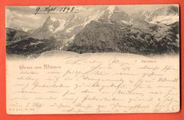 ZNC-26 Gruss Aus Mürren  Pionier. GElaufen 1898 Nach Frankfurt - BE Berne