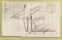TB Précurseur De Luxembourg Vers La Haye (Den Haag)  ,  1848 - ...-1852 Prephilately