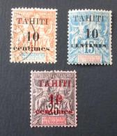 Tahiti 1903 Yvert 31 32 33 - Tahiti