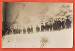 ZNC-36 Foto-Karte In Mürren Von Englischen Militären . Gelafuen Nach Paddington In 1917 - BE Berne