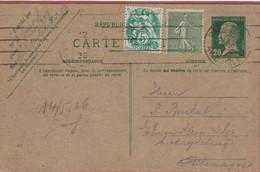 Ganzsache Pasteur 1926 Zufrankierung Säerin Semeuse > Magdeburg - Rückseite Beschädigt - Medicine
