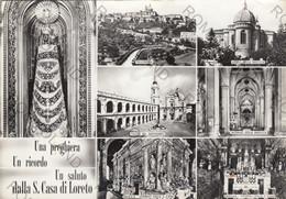 CARTOLINA  LORETO,ANCONA, MARCHE,UN SALUTO DA S.CASA DI LORETO,BELLA ITALIA,STORIA CULTURA,RELIGIONE,VIAGGIATA 1969 - Ancona