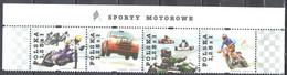 Poland 2004 - Motor Sports - Mi 4150-53 - Strip Of 4 - MNH(**) - Unused Stamps