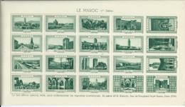 FRANCE Planche De  VIGNETTES La Belle France LE MAROC 1ere Série Vert Cinderellas Tourisme Poster Stamps Labels - Turismo (Vignette)