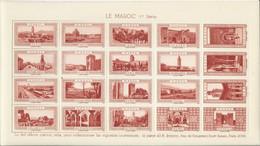 FRANCE Planche De VIGNETTES La Belle France LE MAROC 1ere Série Couleur Brique Cinderellas Poster Stamps Labels Tourisme - Turismo (Vignette)