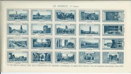 FRANCE Planche De VIGNETTES La Belle France LE MAROC 1ere Série Couleur BLEU Cinderellas Poster Stamps Labels Tourisme - Turismo (Vignette)
