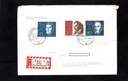 Recommandé 1960 - Cachets BERLIN CHALOTTENBURG - Timbres Louis SPOHR / Félix BARTHOLDY / Friedrich VON SCHILLER - Music