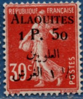 Alaouites 1 P.50 Overprint On Type Semeuse MH 2104.1258 - Unused Stamps