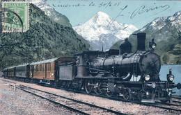 Chemin De Fer, Gotthard Express Bei Fluelen UR (4284) - Trains