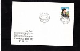 FDC 1982 - SUOMI FINLAND - TOIVO  KUULA - Cachet HELSINKI Sur YT 895 - Music