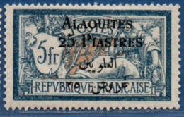 Alaouites 25 P. Overprint On 5 Fr Type Merson MH 2104.1263 - Unused Stamps