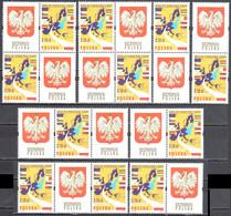 Poland 2004 - Admission To European Union - Combinations - Mi 4105+ Label - MNH(**) - Unused Stamps