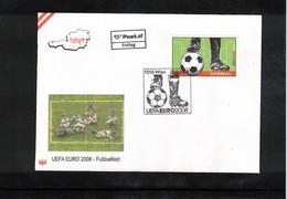 Austria / Oesterreich 2008 European Football Championship Austria+Switzerland - Football Field FDC - Eurocopa (UEFA)