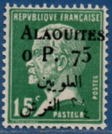 Alaouites 0 P. 75 Overprint On 15 C Type Pasteur MH 2104.1265 - Unused Stamps