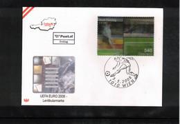 Austria / Oesterreich 2008 European Football Championship Austria+Switzerland - 3D Stamp FDC - Eurocopa (UEFA)