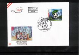 Austria / Oesterreich 2008 European Football Championship Austria+Switzerland - Children's Drawing FDC - Eurocopa (UEFA)