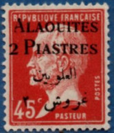 Alaouites 2 P Overprint On 14 C Type Pasteur MH 2104.1266 - Unused Stamps