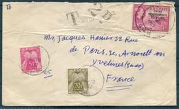 1957 Ghana 3d Independence Overprint Cover - France. Taxe Postage Due - Ghana (1957-...)