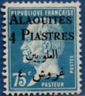 Alaouites 4 P Overprint On 75 C Type Pasteur MH 2104.1267 - Unused Stamps