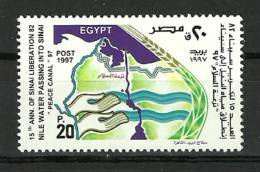 Egypt - 1997 - ( Liberation Of Sinai, 15th Anniv. ) - MNH (**) - Unused Stamps