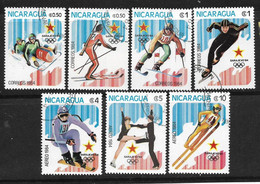 NICARAGUA - 1984 Winter Olympic Games - Sarajevo, Yugoslavia. Two Complete Set - Nicaragua