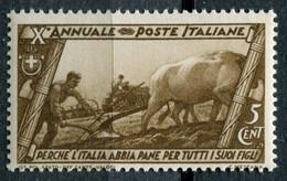 Regno (1932) - Decennale Marcia Su Roma - 5 Cent. ** - Ungebraucht