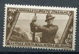Regno (1932) - Decennale Marcia Su Roma - 10 Cent. ** - Ungebraucht