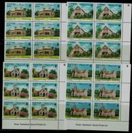 NEVIS 1985 CHRISTMAS CHURCH BLOCK OF 6  MI No 336-9 MNH VF !! - St.Kitts And Nevis ( 1983-...)