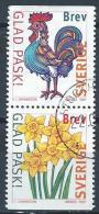Suède 1997 1974/1975 Oblitérés En Paire Pâques - Used Stamps