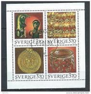 Suède 1995 1888/1891 En Bloc De 4 Oblitérés Trésors Anciens - Used Stamps