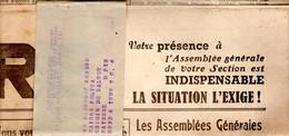 """JOURNAL 1958 """"VIVRE"""" -  DEFENSE DES BLESSES DU POUMON ET LUTTE CONTRE LA TUBERCULOSE - - 1950 - Today"""
